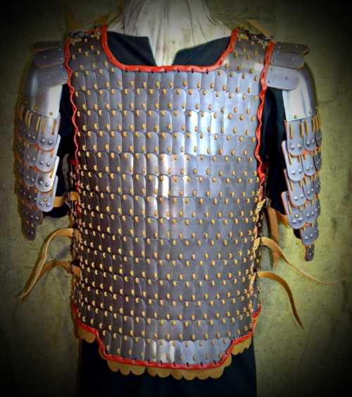 Armour Byzantine #1 with leather trimming. X-XII A.D.
