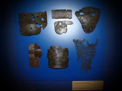 Armour from Oreshek fortress. XIV A.D.