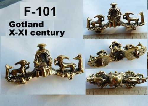 """Equal-arm"" fibula. Norway, X-XI century."