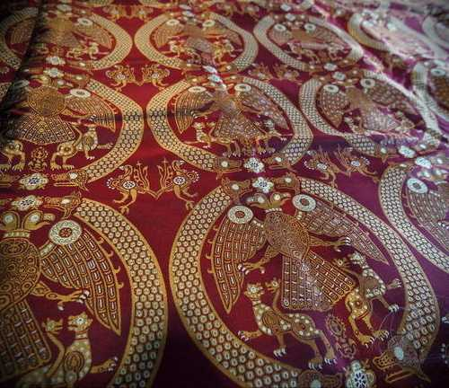 Reconstructed silk fabric from Gnezdovo. Rus, X A.D.