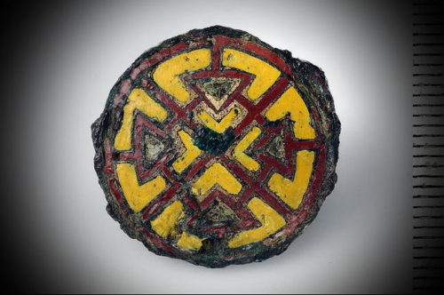 Button with enamel. Birka, 10 century.