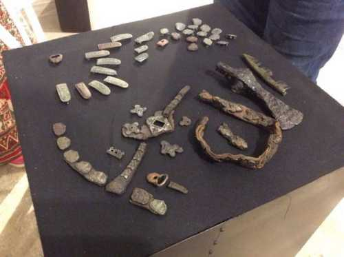 Gnezdovo belt from C-160 burial (tinned)