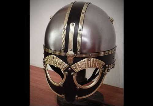 Broa helmet (reconstruction) with brows and half-mask. VII-VIII A.D.