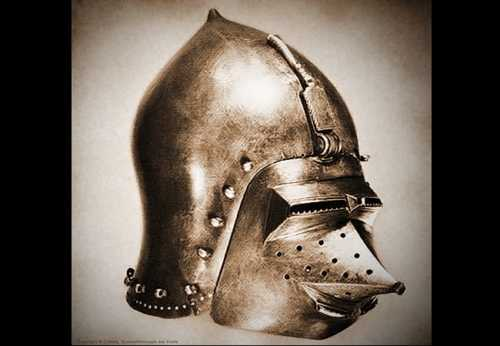 Bascinet Hundsgugel with denticular vizors. XIV-XV A.D.