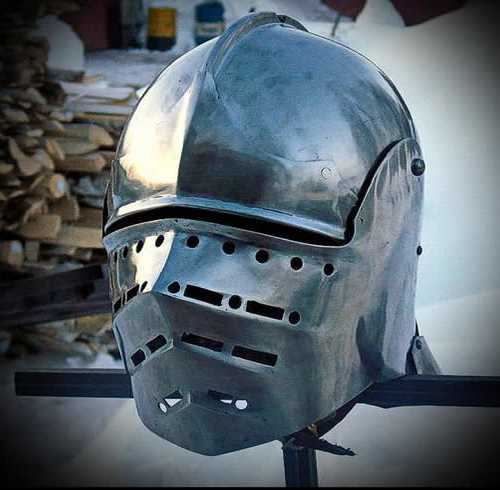 "Salade-armet with ""bird's beak"" visor #2. XV A.D."