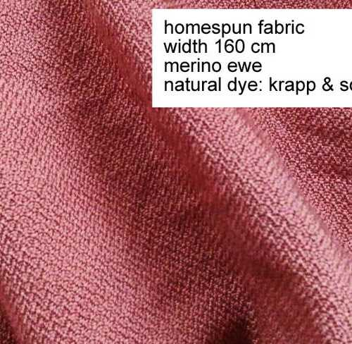 Homespun wool fabric, factory dyed yarns. 51 cm wide. Herring-bone twill, blue solid-colored.