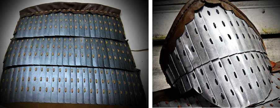 Exciting notes about one lamellar armour.