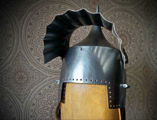 "Pickelhaube with a ""curtain"" visor. Rare thing!"