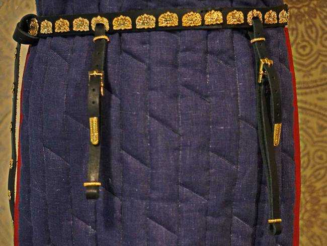 Saber from Kolossovka and the hanging to the waist belt.